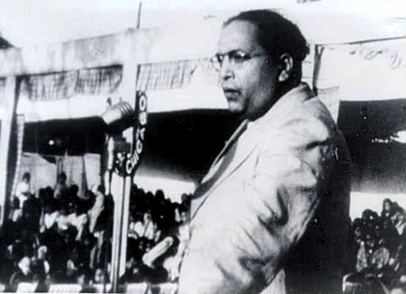 Dr. B. R. Ambedkar addressing a rally in Nasik, Maharashtra on October 13, 1935