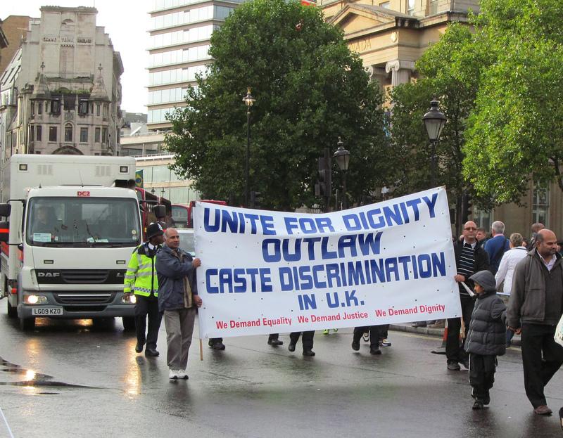 London, October 19, 2013: A demonstration to end caste discrimination