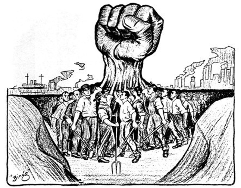 Strength in Solidarity (1917) - A cartoon